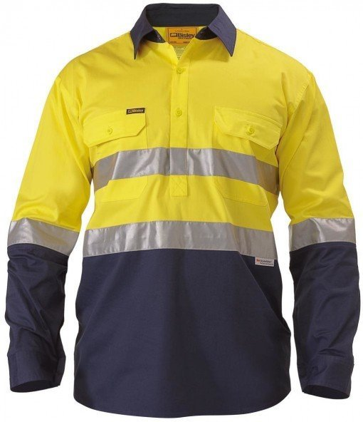Bisley Closed Front Yellow/Navy