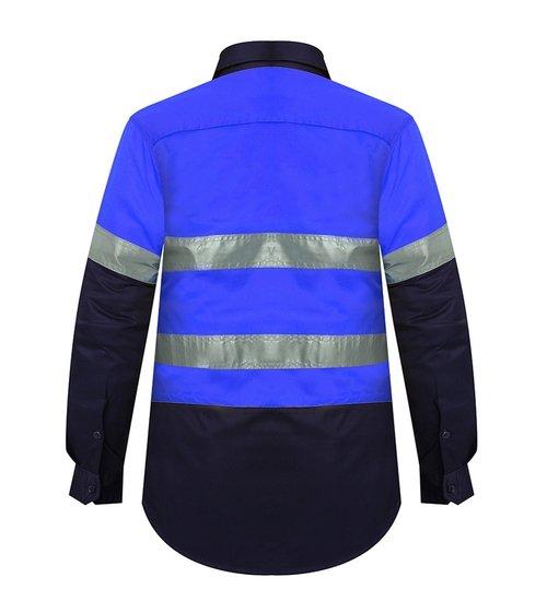 Ritemate RM208V2R Ladies Shirt Blue/Navy - Back