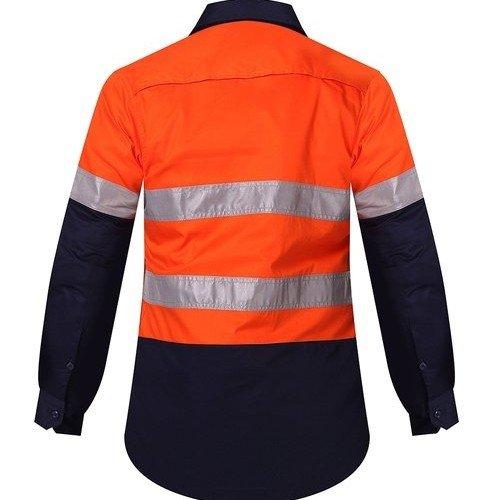 Ritemate RM208V2R Ladies Shirt Orange/Navy - Back