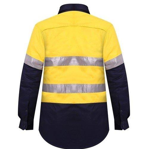 Ritemate RM208V2R Ladies Shirt Yellow/Navy - Back