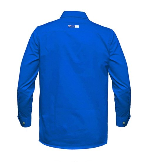 Ritemate Mens RMPCAC01 Australian Cotton Cobalt Blue - Back