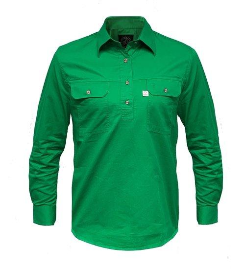 Ritemate Mens RMPCAC01 Australian Cotton Shirt Emerald - Front