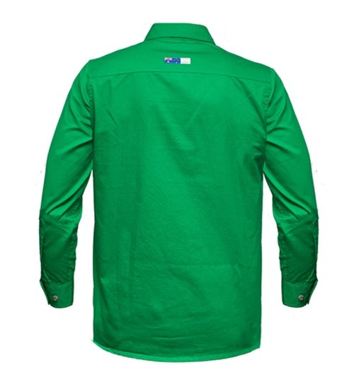 Ritemate Mens RMPCAC01 Australian Cotton Shirt Emerald - Back