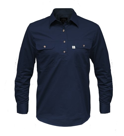 Ritemate Mens RMPCAC01 Australian Cotton Shirt French Navy - Front