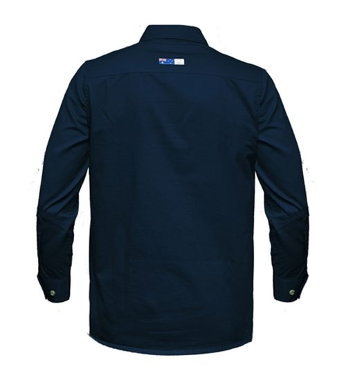 Ritemate Mens RMPCAC01 Australian Cotton Shirt French Navy - Back