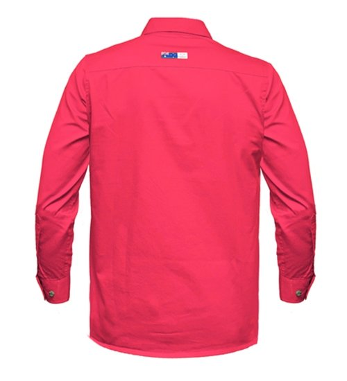 Ritemate Mens RMPCAC01 Australian Cotton Shirt Hot Pink - Back